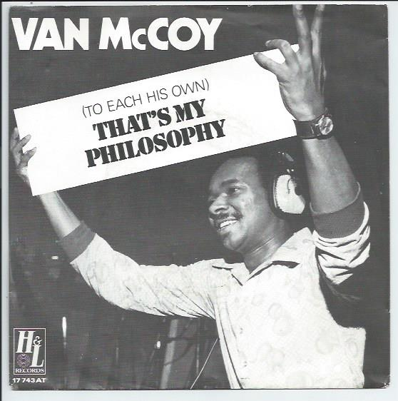 "VAN McCOY ""That's my philosophy"""