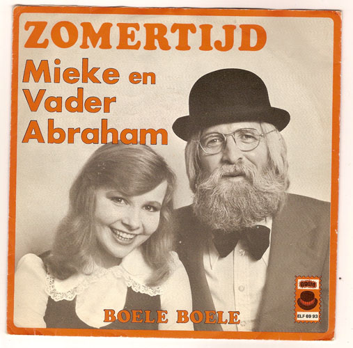 "MIEKE & VADER ABRAHAM ""Zomertijd"" (oranje letters)"