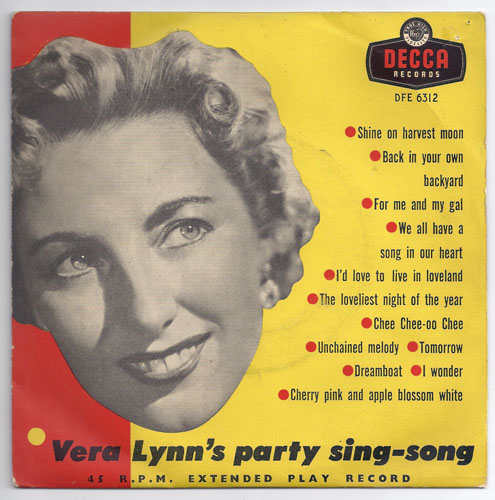 "VERA LYNN ""Vera Lynn's party sing-song"" EP"