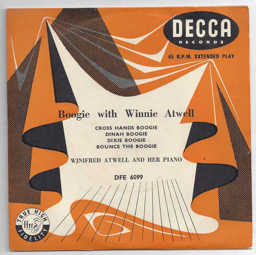 "WINIFRED ATWELL ""Boogie with Winnie Atwell"" EP"