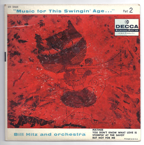 "BILL HITZ ""Music for this swingin' age Part.2"" EP"