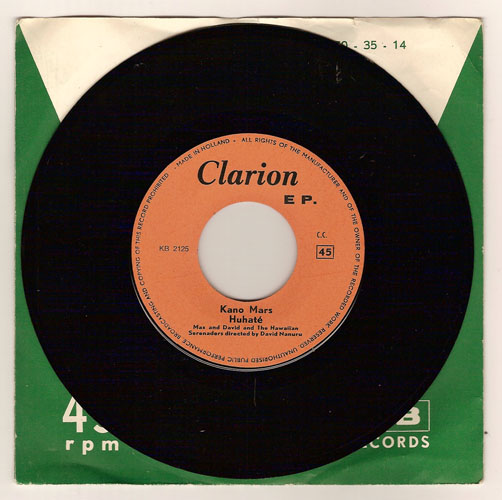 "Clarion 2125-2126 ""Max & David & the Hawaiian Serenaders"""