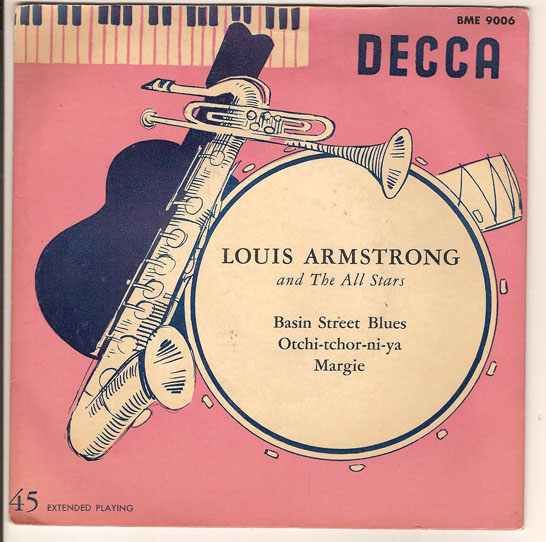 "LOUIS ARMSTRONG ""Basin Street Blues"" EP (eng)"