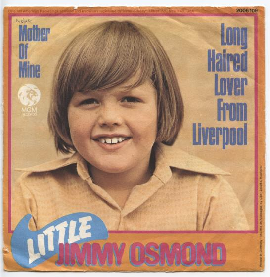 "LITTLE JIMMY OSMOND ""Long haired lover from Liverpool"" (d)"