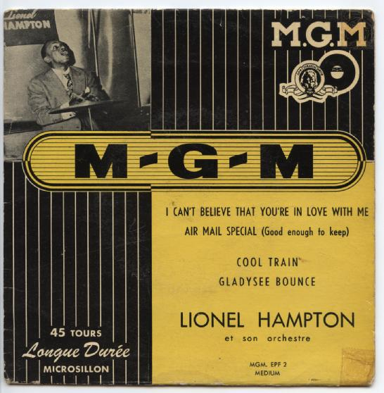 "LIONEL HAMPTON ""I can't believe that you're in love with me"" EP"