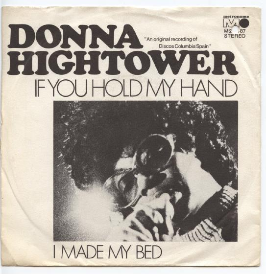 "DONNA HIGHTOWER ""If you hold my hand"""