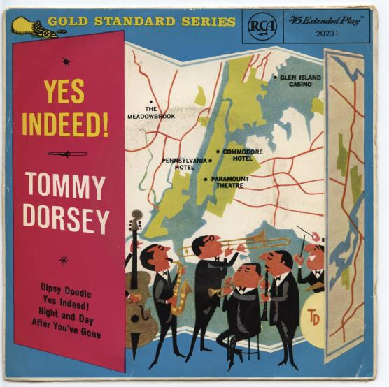 "TOMMY DORSEY ""Yes indeed"" EP"