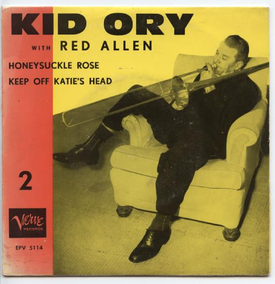 "KID ORY & RED ALLEN ""Honeysuckle Rose"" EP"