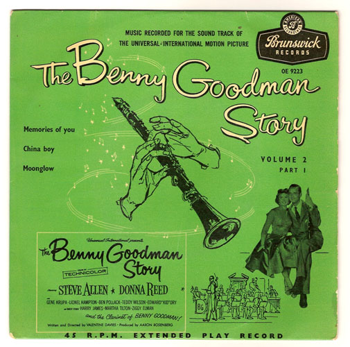 "BENNY GOODMAN ""The Benny Goodman Story vol. 2, part 1"" EP"