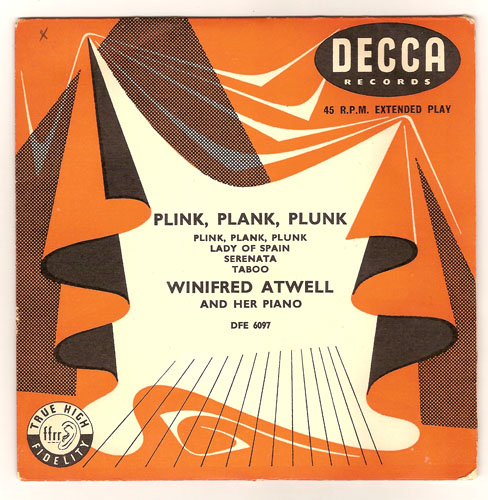 "WINIFRED ATWELL ""Plink, plank, plunk"" EP"