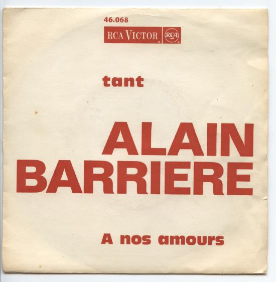 "ALAIN BARRIERE ""A nos amours"""