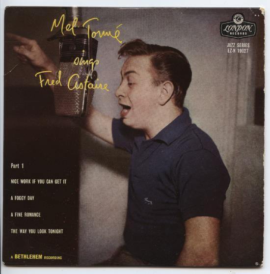 "MEL TORME ""Mel Tormé sings Fred Astaire part 1"" EP"