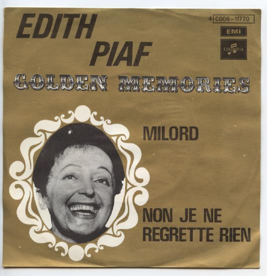 "EDITH PIAF ""Milord"" [Golden memories]"