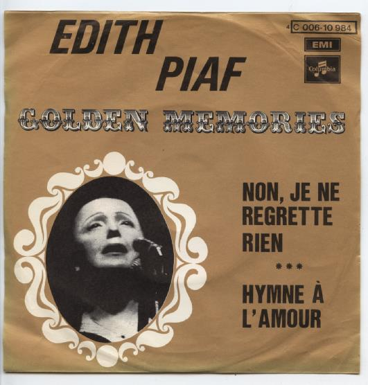 "EDITH PIAF ""Non, je ne regrette rien"" [Golden Memories]"