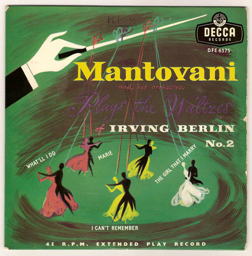 "MANTOVANI ""Mantovani plays the waltzes of Irving Berlin no. 2"""