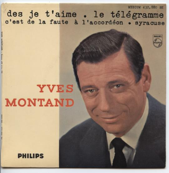 "YVES MONTAND ""Des je t'aime"" EP"
