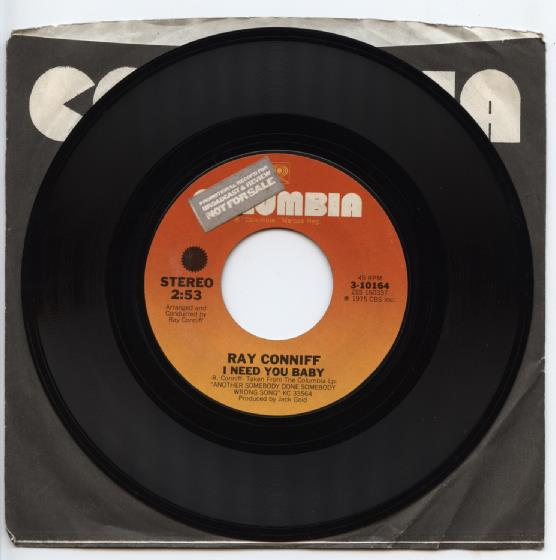 "RAY CONNIFF ""I need you baby"" (promo)"