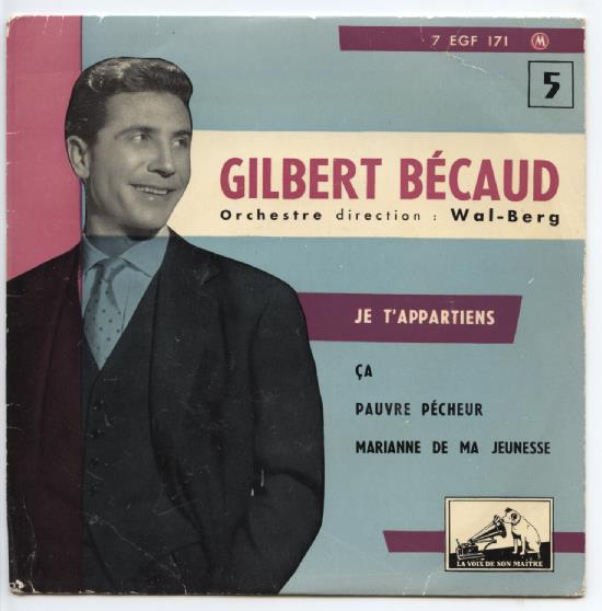 "GILBERT BECAUD ""Je t'appartiens"" EP"