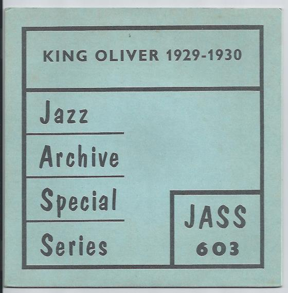 "KING OLIVER & HIS ORCHESTRA ""1929 - 1930"" EP"