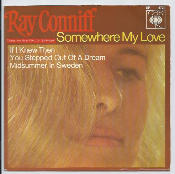 "RAY CONNIFF ""Somewhere my love"" EP"