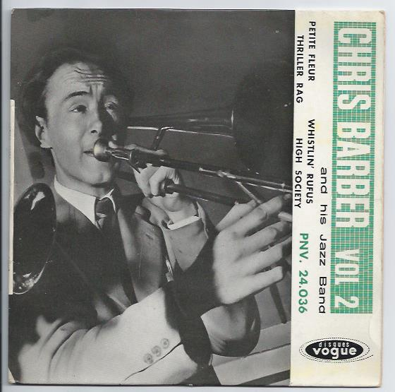 "CHRIS BARBER'S JAZZ BAND ""Chris Barber vol. 2"" EP"