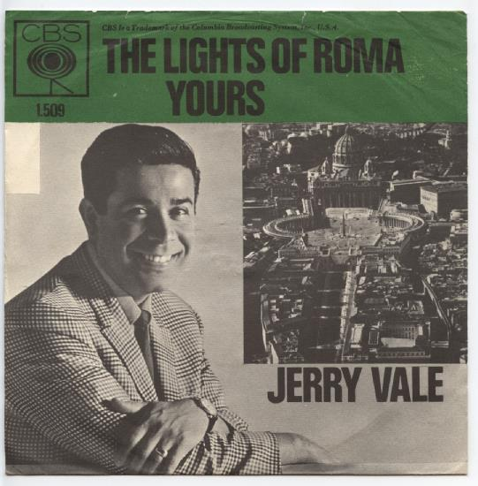 "JERRY VALE ""The lights of Roma"""