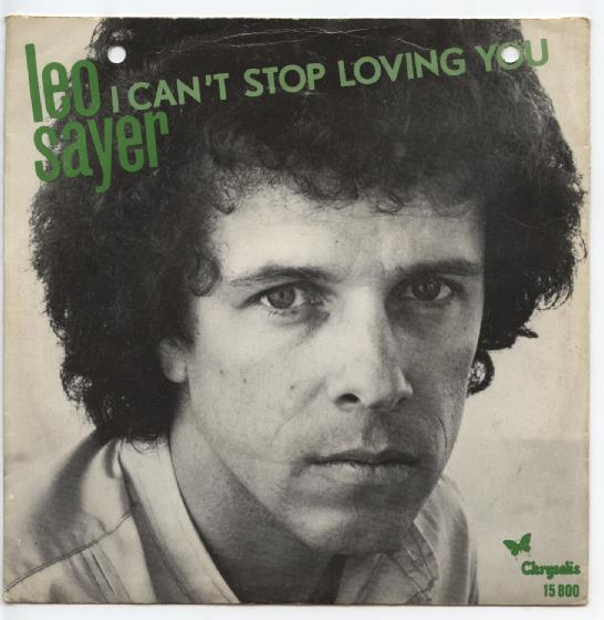 "LEO SAYER ""I can't stop loving you"""