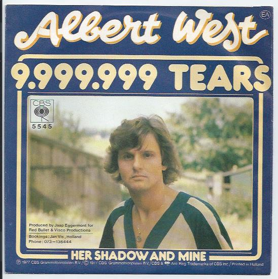 "ALBERT WEST ""9.999.999 tears"""