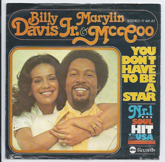 "BILLY DAVIS JR. & MARILYN McCOO ""You don't have to be a star"" d"
