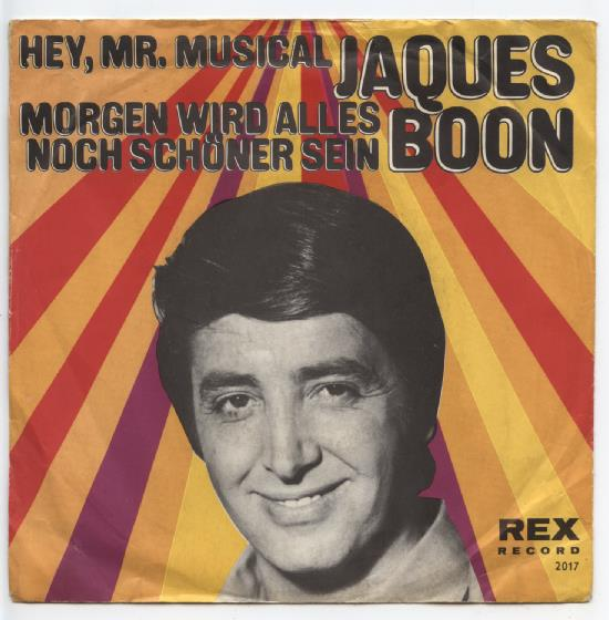 "JAQUES BOON ""Hey, Mr. Musical"""