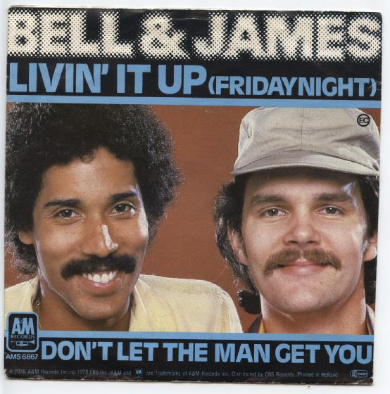 "BELL & JAMES ""Livin' it up"""