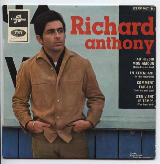 "RICHARD ANTHONY ""Au revoir mon amour"" EP"