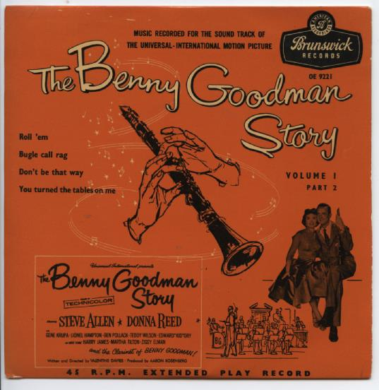 "BENNY GOODMAN ""The Benny Goodman Story, vol. 1, part 2"" EP"