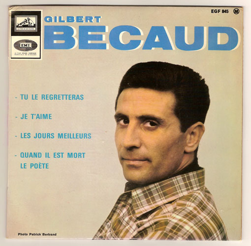 "GILBERT BECAUD ""Tu le regretteras"" EP"