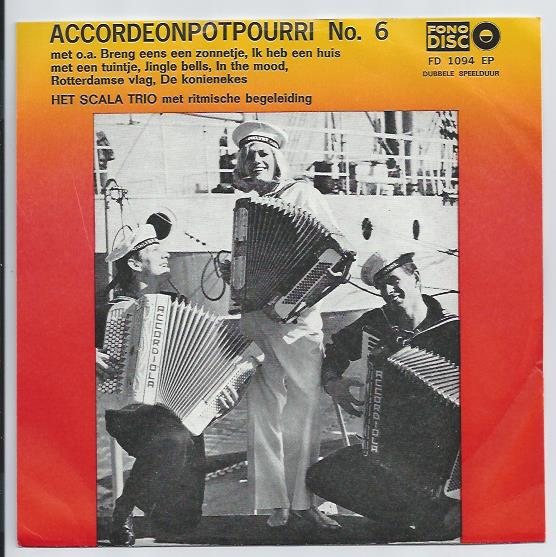 "Fono disc 1094 SCALA TRIO ""Accordeon potpourri no. 6"""