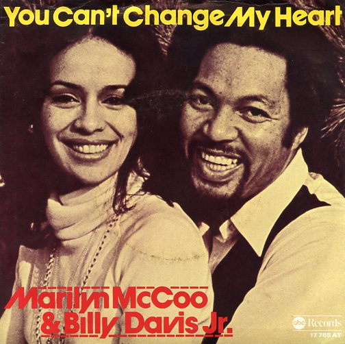 "BILLY DAVIS JR. & MARILYN McCOO ""You can't change my heart"""