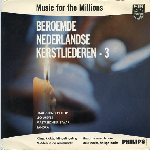 "MUSIC FOR THE MILLIONS ""Beroemde Nederlandse Kerstliederen 3""EP"