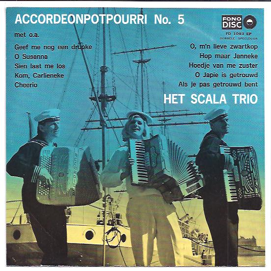 "Fono disc 1093 SCALA TRIO ""Accordeon potpourri no. 5"""