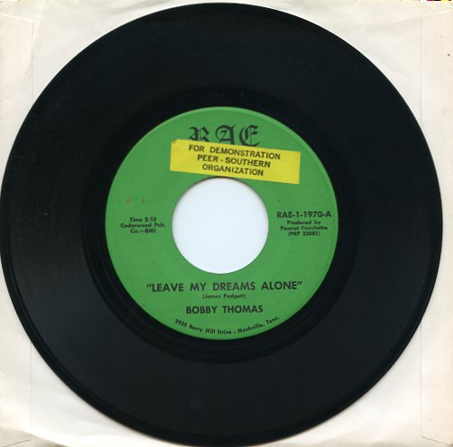 "BOBBY THOMAS ""Leave my dreams alone"" (jb)"
