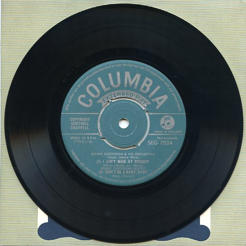 "BENNY GOODMAN ""I ain't mad at nobody"" EP"