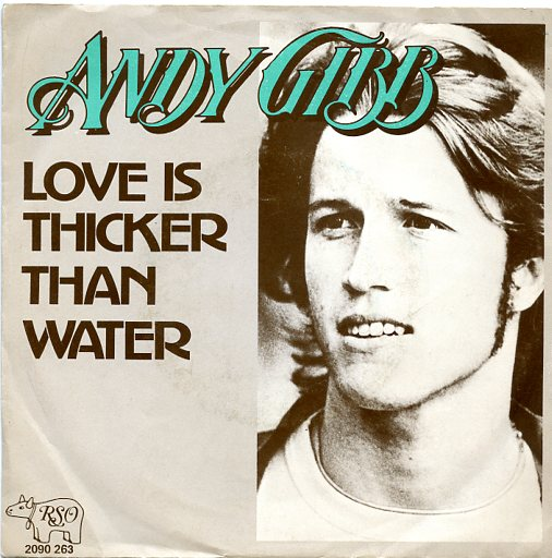 "ANDY GIBB ""Love is thicker than water"""