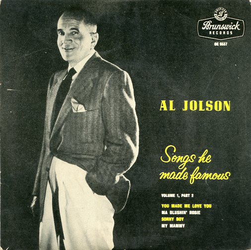 "AL JOLSON ""Songs he made famous, vol.1, part 2"" EP"