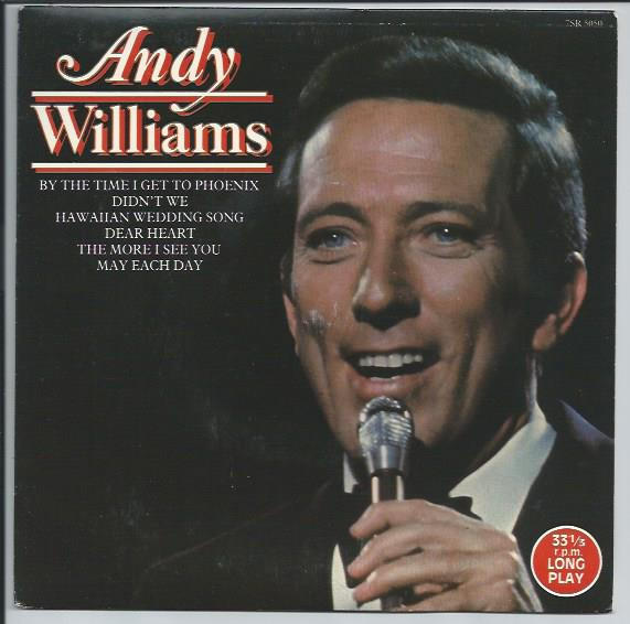 "ANDY WILLIAMS ""By the time I get to Phoenix"" EP 33 1/3 rpm"