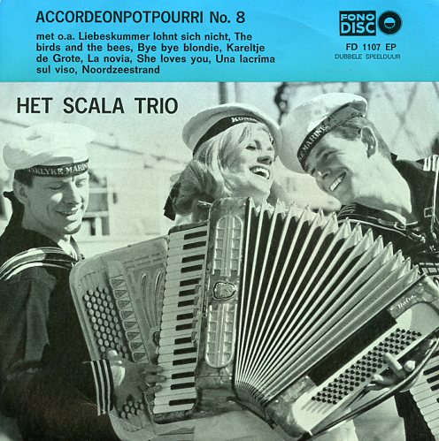 "Fono disc 1107 SCALA TRIO ""Accordeon potpourri no. 8"""