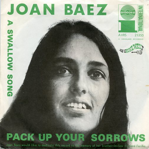 "JOAN BAEZ ""Pack up your sorrows"""