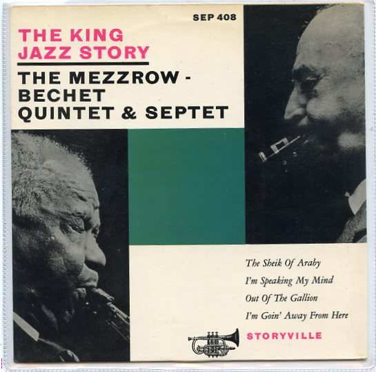 "MEZZROW BECHET QUINTET & SEPTET ""The King Jazz Sory"" EP"