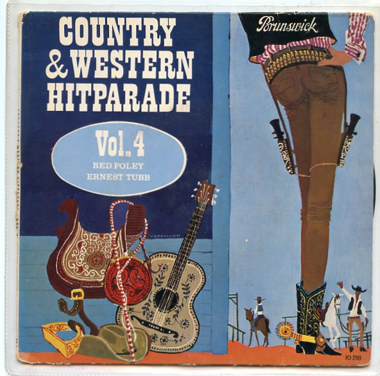 "RED FOLEY & ERNEST TUBB ""Country & Western Hitparade vol. 4"" EP"