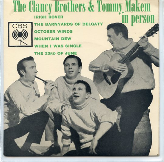 "CLANCY BROTHERS & TOMMY MAKEM IN PERSON ""Irish rover"" EP"