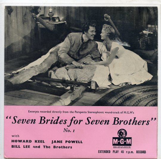 "HOWARD KEEL, JANE POWELL ""Seven brides for seven brothers"" EP"