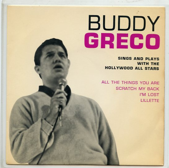 "BUDDY GRECO ""Sings and plays"" EP (33 1/3 rpm)"